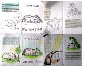 Etude graphisme d'une plaquette informative/publicitaire d'une maison solaire