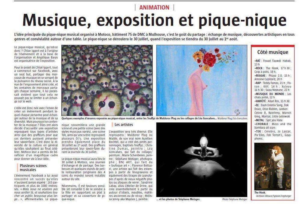 L'Alsace 20 Juillet 2016 Pic-Nique Musical
