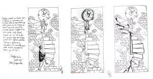 """Etude d'illustration, texte de Jules Superviel, """"L'Enfant de la Haute Mer"""", encre"""